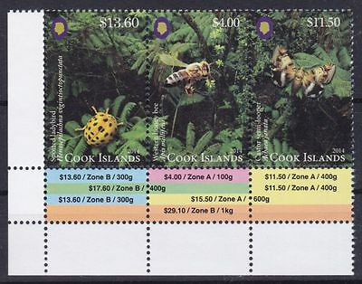 Cook Islands Mi-Nr. 1990 - 1992 **, Freim. Insekten / Insects III (52 ME)