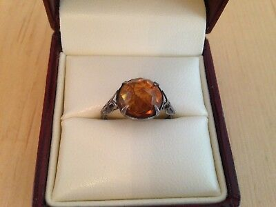 Vintage Silver Gemstone Ring ,Detector Beach Find.
