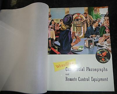 Wurlitzer commercial phonographs and remote control equipment ad book
