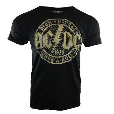AC DC Mens Tee T Shirt ACDC Rock & Roll Music Band Tour Vintage s Hell Black NEW