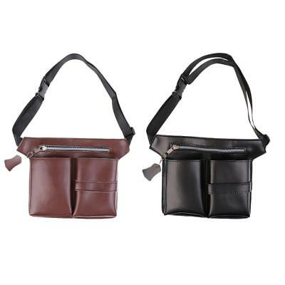 Leather Barber Scissors Shears Hairdressing Holster Pouch Holder Case Bag