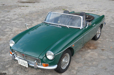 1969 Mg Mgb  One Owner One Year Only High Back Seats Chrome Bumper British Racing Green Mgb