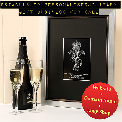 Established Military Gift Store Business For Sale - Engraving & Printing Website