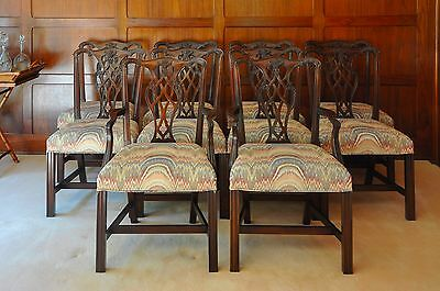Set of 10 Councill Craftsmen Chippendale Dining Chairs