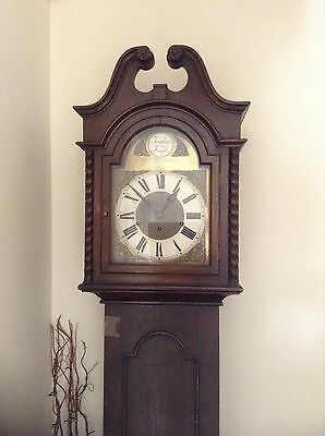 Longcase Grandfather Clock Westminster Chimes And 8 Day Mechanisim