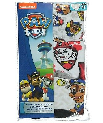 Paw Patrol Toddler Boys Briefs Underwear, 3 Pack