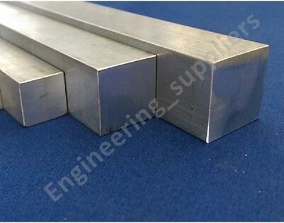 "Cheap Aluminium Square Solid Bar 1/4"", 1/2"", 5/8"", 1"" Various Length 100 - 600mm"