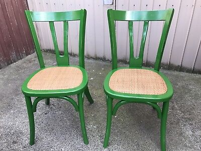 2 X Green Cottage Chairs