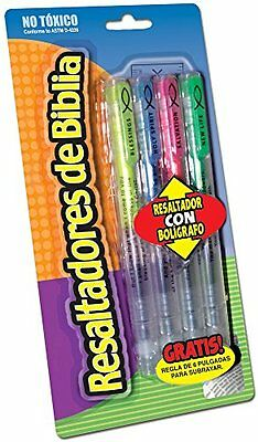 SPANISH BIBLE HIGHLIGHTER 4-Pack Scripture Resaltadores de Biblia