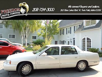 1997 Cadillac DeVille  1997 Cadillac Deville White Leather Tan Clean Carfax 4 Door Sedan Automatic