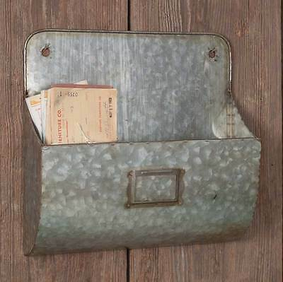 New French Country Chic Vintage Style Metal Mail Box File Letter Holder Wall Bin