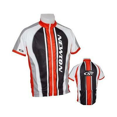 Maillot velo adulte team noir/rouge/blanc xl (zip integral) - fabricant Newton