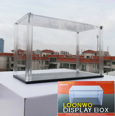 Clear Acrylic Display Case Multi-use Dustproof Decorative Box 255x160/ 247x126mm