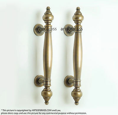 "14.76"" inches Set 2 pcs Vintage Retro Western Classic Entry Door Handle Hardware"
