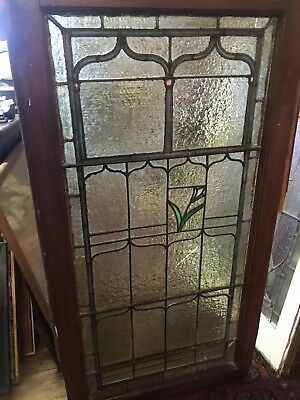 """Antique Lead Glass Window-42 1/2""""x22 1/2""""-PICK UP ONLY-NO SHIPPING"""