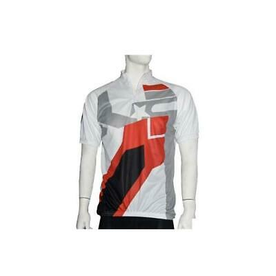 Maillot mc top cool blanc/rouge/gris taille l - fabricant No Contest