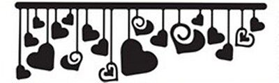 Die-versions - Hanging Love heart metal die - for use in most cutting systems