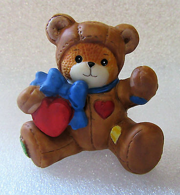 Lucy & Me ~ Teddy Bear dressed as a Teddy Bear ~ Porcelain Figurine