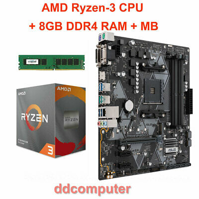 AMD Ryzen-3 1200 Quad-Core CPU, AM4 Motherboard, 4GB RAM Combo for Desktop PC