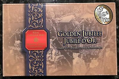 Golden Jubilee - 2002 Proof Set Of Canadian Coinage Original Box And COA