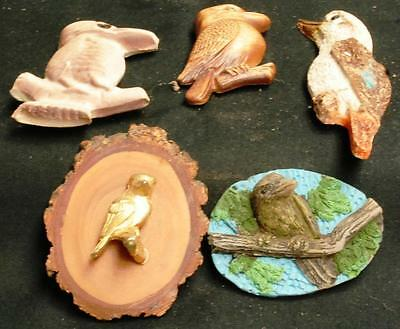 5 Different Kookaburra Fridge Magnets