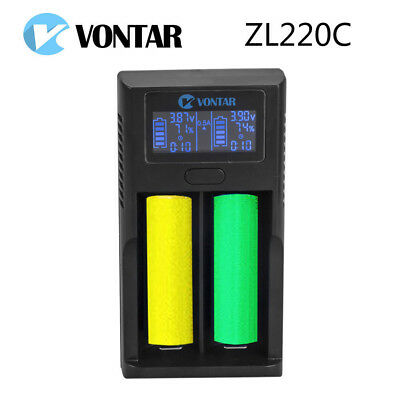 LCD USB SMART Battery Charger for Li-ion 26650 18650 18500 18350 17670 16340 -UK