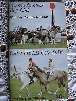 Victoria Amateur Turf Club Caulfield Cup Day 21St Oct 1978 Official Programme