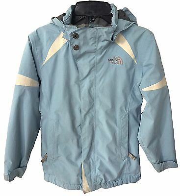 THE NORTH FACE Girl's Boundary Hyvent Rain Jacket Blue Size Small (7/8) EUC $115