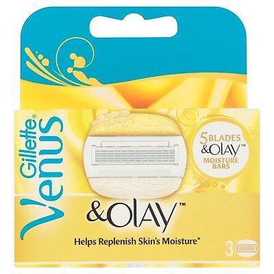 Gillette Venus and Olay Replacement Razor Cartridges Made for Women - Pack of 3
