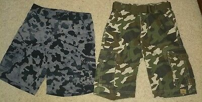 2 Piece NEW Lot Boys Youth Under Armour Camo Cargo Board Shorts M 10 $49