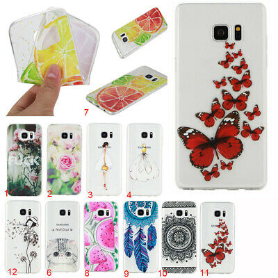 Ultra-thin Colorful Cute Clear Soft TPU Rubber Back Case Cover For Various Phone