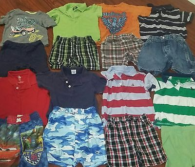 toddler boys huge summer clothes lot GAP ETC. SHORTS SHIRTS 24M 2T OUTFITS