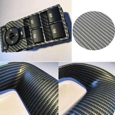 Large HYDROGRAPHIC WATER TRANSFER Hydro Dipping Print Film Silver Carbon Fiber