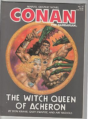 Conan the Barbarian #19 / Witch Queen of Acheron comic graphic novel Marvel 1985