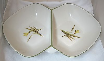 """Tiger Iris Winfield China Pottery California 16 1/4"""" Oval Divided Vegetable Bowl"""