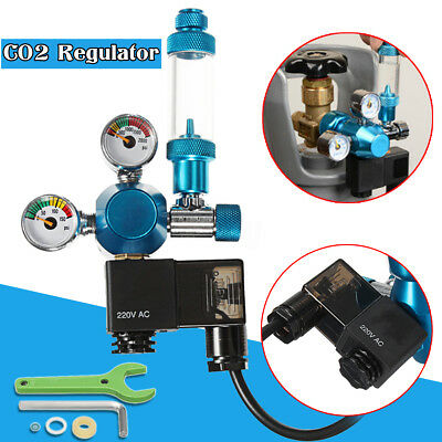 Aquarium CO2 Regulator Magnetic Solenoid Valve Bubble Counter Planted Fish Tank
