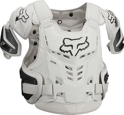 FOX 18 Raptor LT Grey Vest CE MX Protector DirtBike Gear Body Armour Off-Road