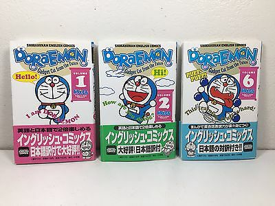 Lot of 3 Doraemon Gadget Cat from the Future Volume 1 2 6 Book ENGLISH