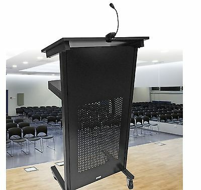 Lectern Black with locking castors