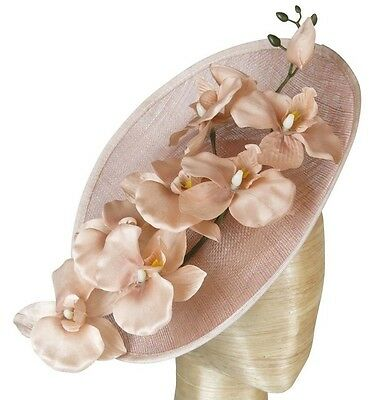 Morgan And Taylor Nude Blush Flower Plate Fascinator Races Wedding