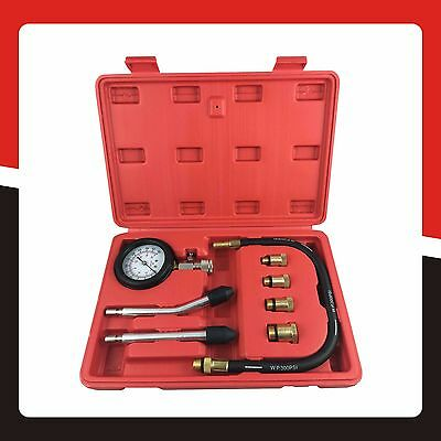 Automotive Petrol Engine Compression Tester Tool Kit Pressure Gauge for Car/Boat