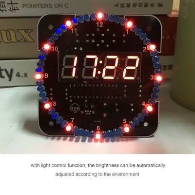 DIY Light Control Rotation Digital LED Electronic Temperature Clock Kit SuiteLY