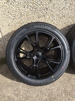 """4X Jeep Grand Cherokee SRT Genuine 20"""" Spider Monkey Gloss Black With New Tyres"""