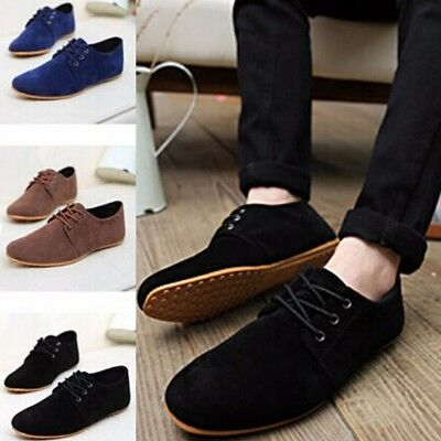 AU Mens Leather Slip On Driving Moccasin Loafers Suede Casual Comfort Shoes New