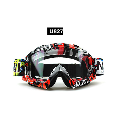 Red motocross motorbike goggles anti-fog UV protection MX dirt PIT trail bike