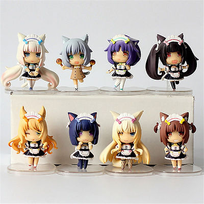 NEKOPARA Vol.3 8pcs set PVC Figure Toy Anime Collection Doll 3D Model New In Box