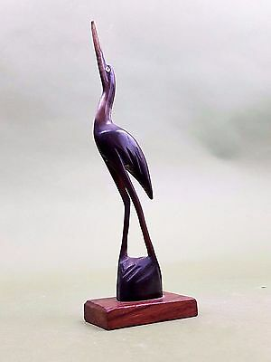 Vintage African Carved Bird made from Horn and Hard Wood Base