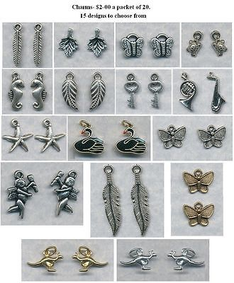 20 charms- Over 15 to choose from