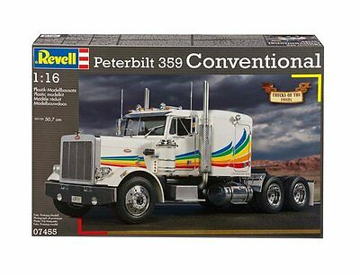 Revell 1/16 Peterbilt 359 Conventional Truck Plastic Kit Re07455