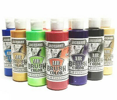 Jacquard Airbrush Colors 8 Bottle Bundle! Free Expedited Shipping!